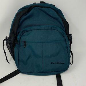 Rick Steves green padded travel laptop backpack